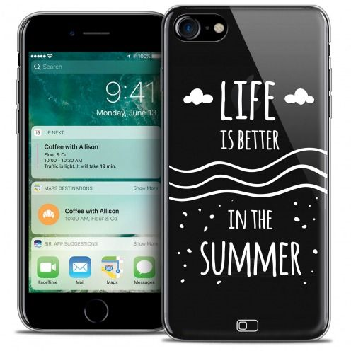 "Extra Slim Crystal Gel Apple iPhone 7 (4.7"") Case Summer Life's Better"