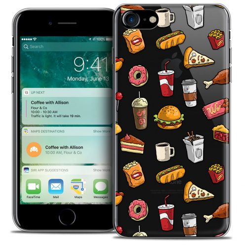 "Extra Slim Crystal Gel Apple iPhone 7 (4.7"") Case Foodie Fast Food"