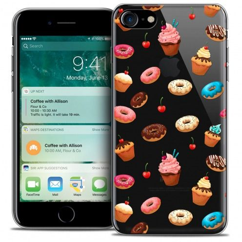 "Extra Slim Crystal Gel Apple iPhone 7 (4.7"") Case Foodie Donuts"