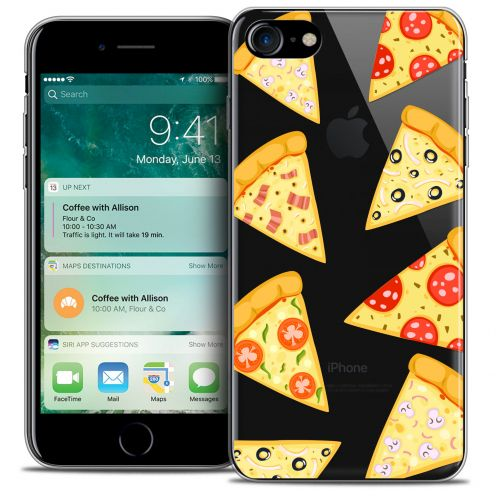"Extra Slim Crystal Gel Apple iPhone 7 (4.7"") Case Foodie Pizza"