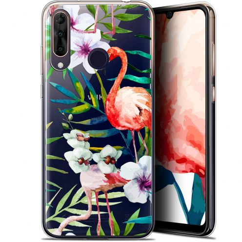 "Extra Slim Gel Wiko View 3 PRO (6.3"") Case Watercolor Tropical Flamingo"