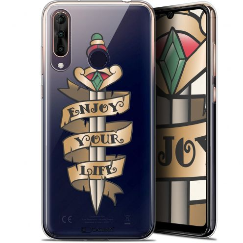 "Extra Slim Gel Wiko View 3 PRO (6.3"") Case Tatoo Lover Enjoy Life"