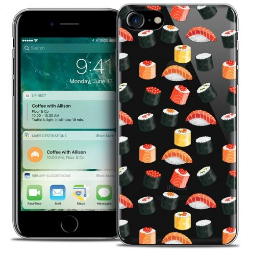 "Extra Slim Crystal Gel Apple iPhone 7 (4.7"") Case Foodie Sushi"