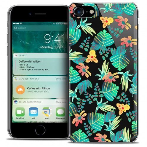 "Extra Slim Crystal Gel Apple iPhone 7 (4.7"") Case Spring Tropical"