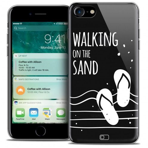 "Extra Slim Crystal Gel Apple iPhone 7 (4.7"") Case Summer Walking on the Sand"