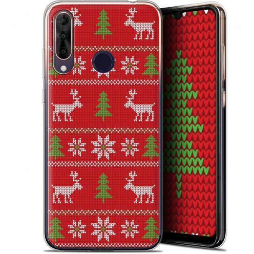 "Extra Slim Gel Wiko View 3 PRO (6.3"") Case Noël 2017 Couture Rouge"
