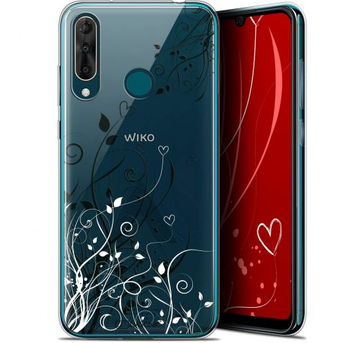 "Extra Slim Gel Wiko View 3 PRO (6.3"") Case Love Hearts Flowers"