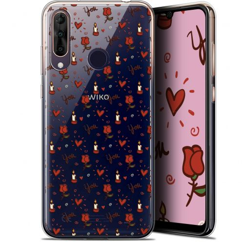 "Extra Slim Gel Wiko View 3 PRO (6.3"") Case Love Bougies et Roses"