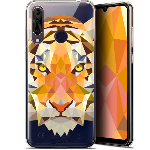 "Extra Slim Gel Wiko View 3 PRO (6.3"") Case Polygon Animals Tiger"