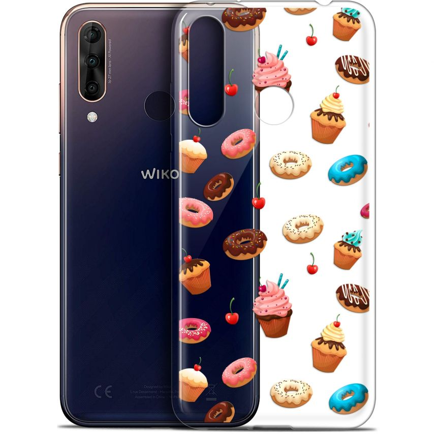 "Extra Slim Gel Wiko View 3 PRO (6.3"") Case Foodie Donuts"
