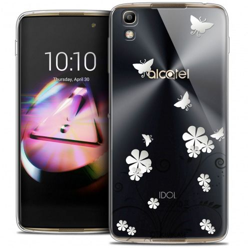 Extra Slim Crystal Gel Alcatel Idol 4 Case Summer Papillons