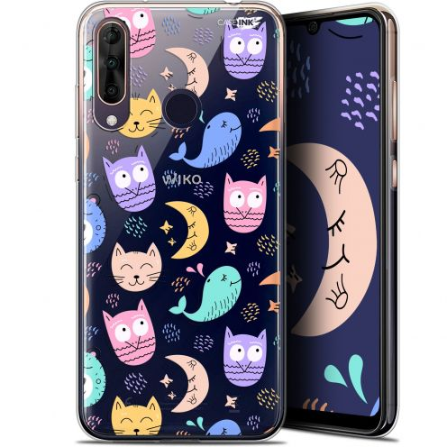 """Extra Slim Gel Wiko View 3 PRO (6.3"""") Case Design Chat Hibou"""