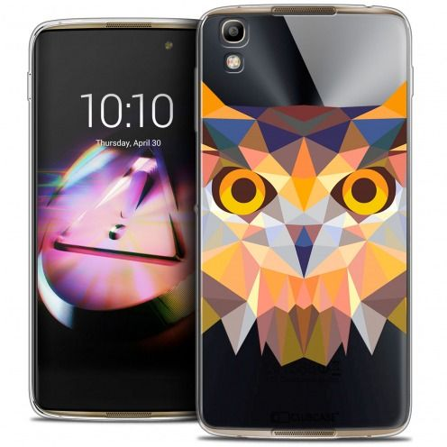 Extra Slim Crystal Gel Alcatel Idol 4 Case Polygon Animals Owl