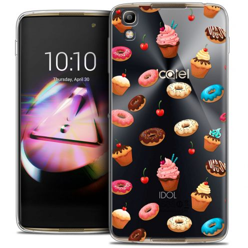 Extra Slim Crystal Gel Alcatel Idol 4 Case Foodie Donuts