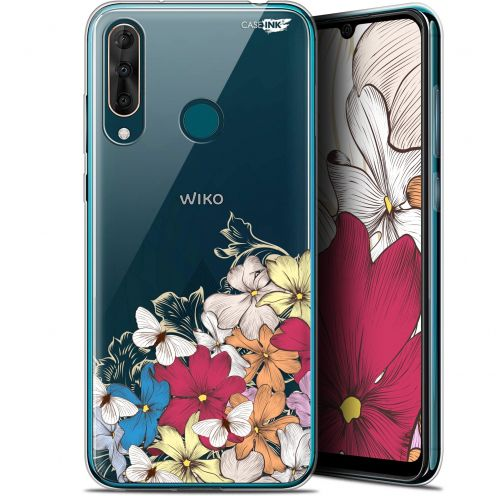 "Extra Slim Gel Wiko View 3 PRO (6.3"") Case Design Nuage Floral"