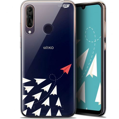 "Extra Slim Gel Wiko View 3 PRO (6.3"") Case Design Papier Volant"