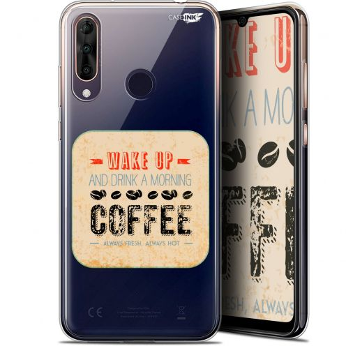 "Extra Slim Gel Wiko View 3 PRO (6.3"") Case Design Wake Up With Coffee"