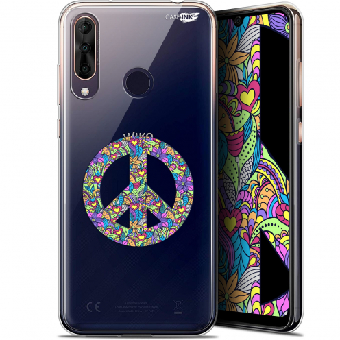 "Extra Slim Gel Wiko View 3 PRO (6.3"") Case Design Peace And Love"