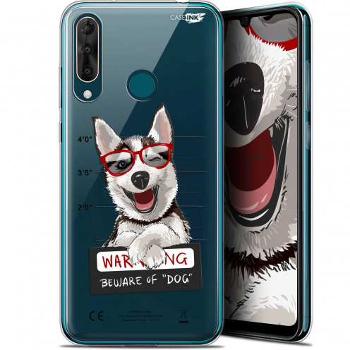"Extra Slim Gel Wiko View 3 PRO (6.3"") Case Design Beware The Husky Dog"