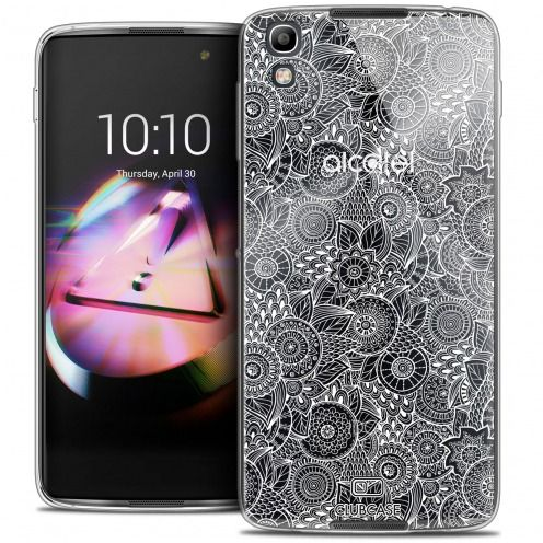 Extra Slim Crystal Gel Alcatel Idol 4 Case Floral Lace Collection - White