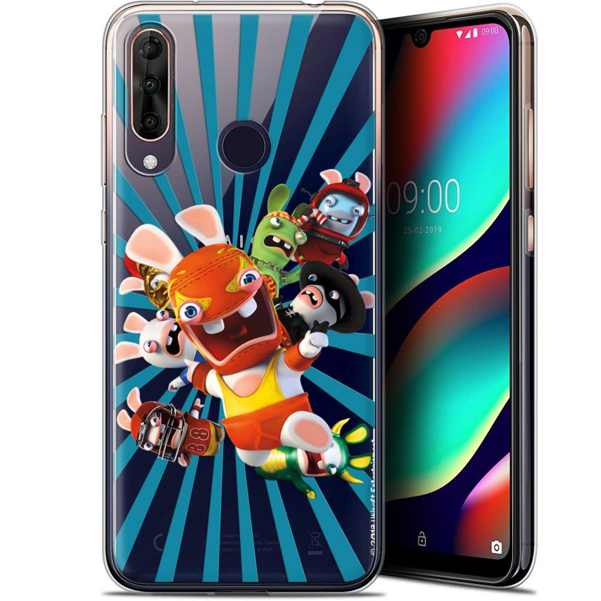 "Gel Wiko View 3 PRO (6.3"") Case Lapins Crétins™ Super Heros"
