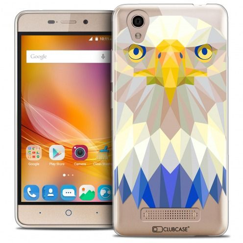 Extra Slim Crystal Gel ZTE A452 Case Polygon Animals Eagle