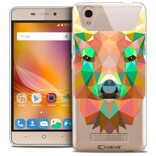 Extra Slim Crystal Gel ZTE A452 Case Polygon Animals Deer