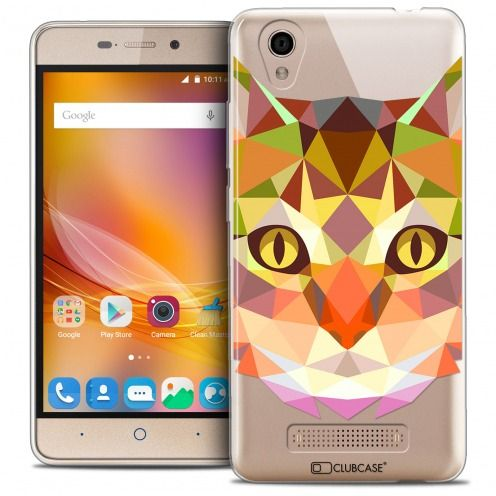 Extra Slim Crystal Gel ZTE A452 Case Polygon Animals Cat
