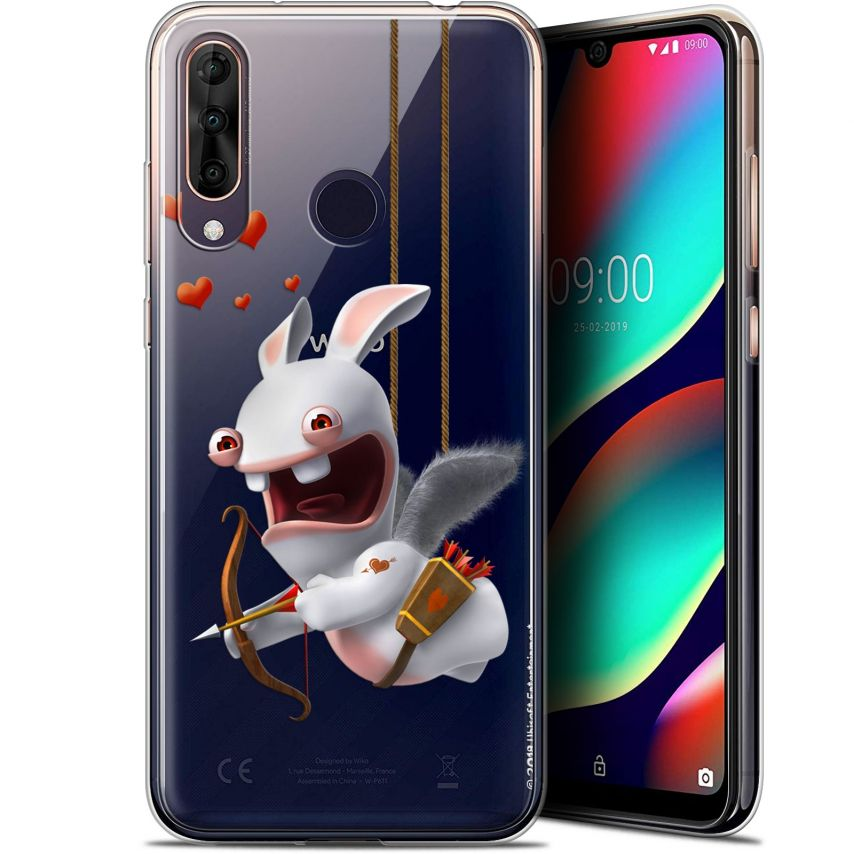 """Gel Wiko View 3 PRO (6.3"""") Case Lapins Crétins™ Flying Cupidon"""