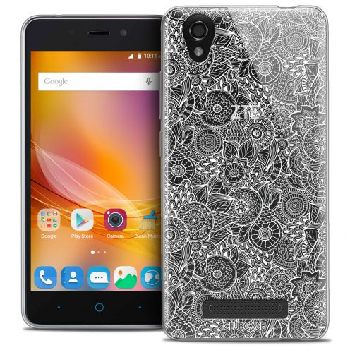 Extra Slim Crystal Gel ZTE A452 Case Floral Lace Collection - White