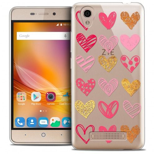 Extra Slim Crystal Gel ZTE A452 Case Sweetie Doodling Hearts