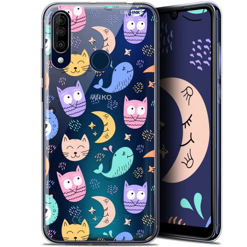 """Extra Slim Gel Wiko View 3 (6.26"""") Case Design Chat Hibou"""