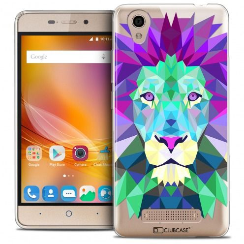 Extra Slim Crystal Gel ZTE A452 Case Polygon Animals Lion