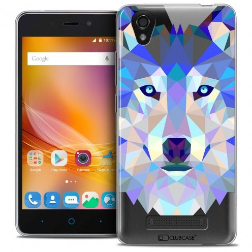 Extra Slim Crystal Gel ZTE A452 Case Polygon Animals Wolf