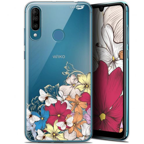 "Extra Slim Gel Wiko View 3 (6.26"") Case Design Nuage Floral"