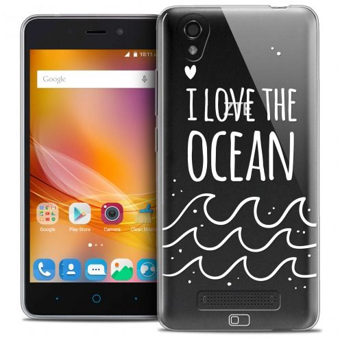 Extra Slim Crystal Gel ZTE A452 Case Summer I Love Ocean