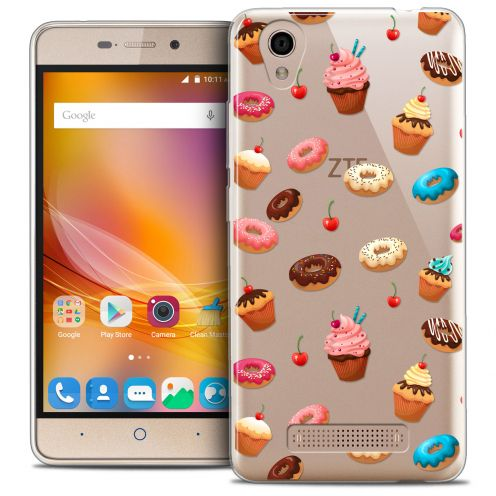 Extra Slim Crystal Gel ZTE A452 Case Foodie Donuts