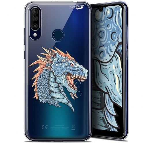 "Extra Slim Gel Wiko View 3 (6.26"") Case Design Dragon Draw"