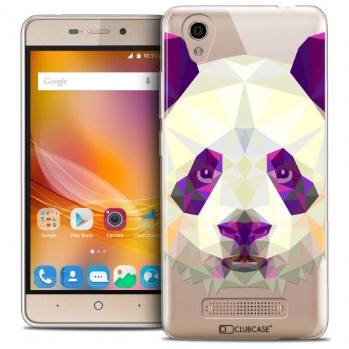 Extra Slim Crystal Gel ZTE A452 Case Polygon Animals Panda