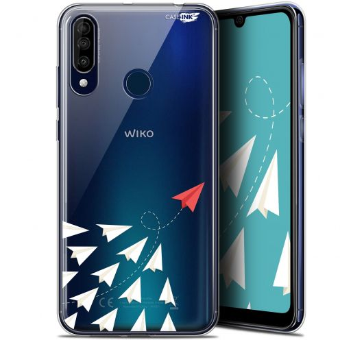 "Extra Slim Gel Wiko View 3 (6.26"") Case Design Papier Volant"