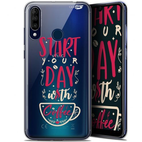 "Extra Slim Gel Wiko View 3 (6.26"") Case Design Start With Coffee"