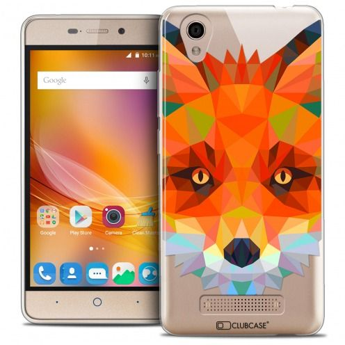 Extra Slim Crystal Gel ZTE A452 Case Polygon Animals Fox