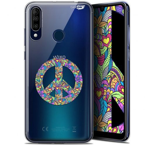 """Extra Slim Gel Wiko View 3 (6.26"""") Case Design Peace And Love"""