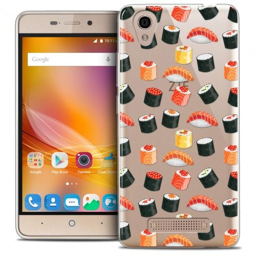 Extra Slim Crystal Gel ZTE A452 Case Foodie Sushi