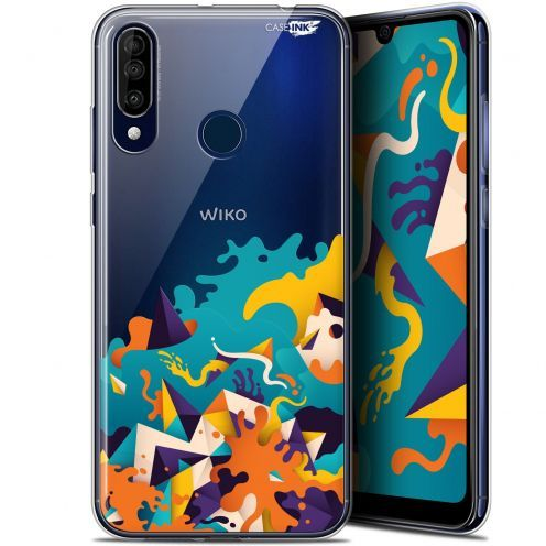 "Extra Slim Gel Wiko View 3 (6.26"") Case Design Les Vagues"