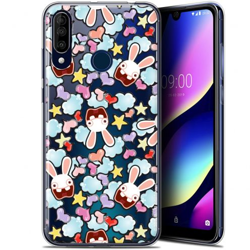 "Gel Wiko View 3 (6.26"") Case Lapins Crétins™ Love Pattern"