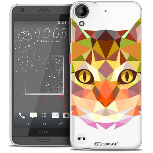 Extra Slim Crystal Gel HTC Desire 530/630 Case Polygon Animals Cat