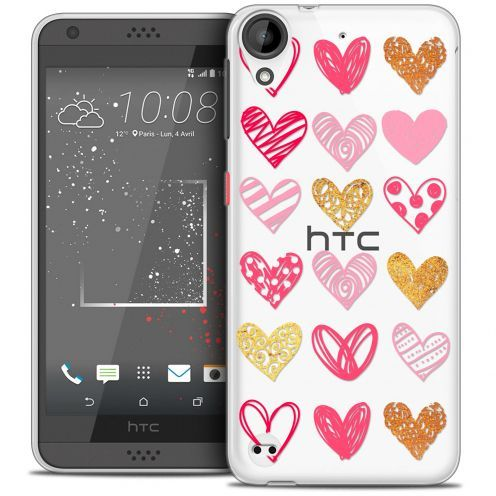 Extra Slim Crystal Gel HTC Desire 530/630 Case Sweetie Doodling Hearts