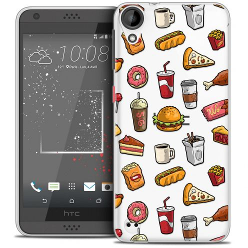 Extra Slim Crystal Gel HTC Desire 530/630 Case Foodie Fast Food