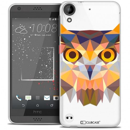 Extra Slim Crystal Gel HTC Desire 530/630 Case Polygon Animals Owl